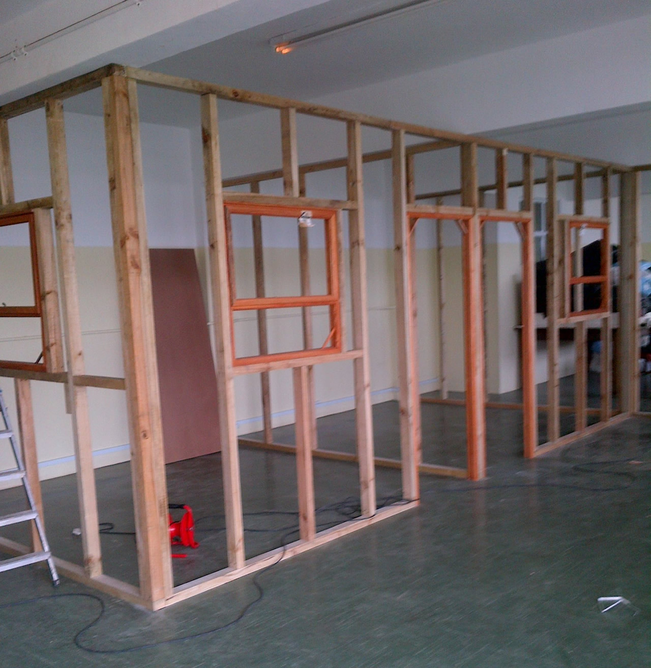 Construction of office space