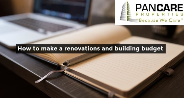 How to make a renovations and building budget