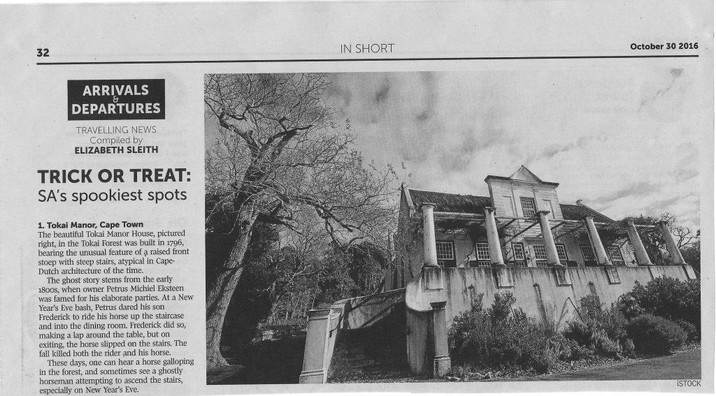 Ghosts at Manor House Tokai?